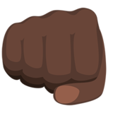 Oncoming Fist: Dark Skin Tone on Messenger 1.0