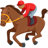 Horse Racing: Medium Skin Tone on Messenger 1.0