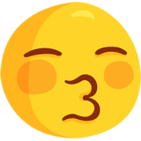 Kissing Face with Closed Eyes on Messenger 1.0
