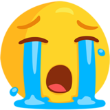 Loudly Crying Face on Messenger 1.0