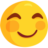 Smiling Face with Smiling Eyes on Messenger 1.0