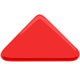 Red Triangle Pointed Up on Messenger 1.0