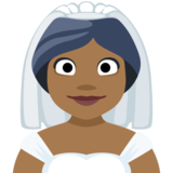 Bride With Veil: Medium-Dark Skin Tone on Facebook 2.0