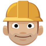 Construction Worker: Medium-Light Skin Tone on Facebook 2.0