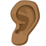 Ear: Medium-Dark Skin Tone on Facebook 2.0