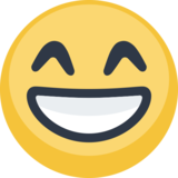 Beaming Face with Smiling Eyes on Facebook 2.0