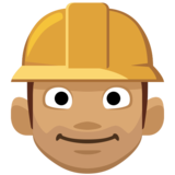 Man Construction Worker: Medium Skin Tone on Facebook 2.0