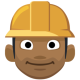 Man Construction Worker: Medium-Dark Skin Tone on Facebook 2.0