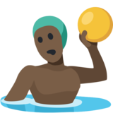 Man Playing Water Polo: Dark Skin Tone on Facebook 2.0