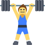 Man Lifting Weights on Facebook 2.0