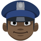 Police Officer: Dark Skin Tone on Facebook 2.0