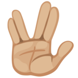 Vulcan Salute: Medium-Light Skin Tone on Facebook 2.0