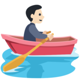 Person Rowing Boat: Light Skin Tone on Facebook 2.0