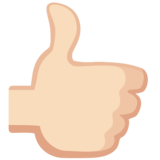 Thumbs Up: Light Skin Tone on Facebook 2.0