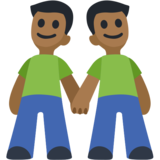 Men Holding Hands: Medium-Dark Skin Tone on Facebook 2.0