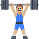 Person Lifting Weights: Medium-Light Skin Tone on Facebook 2.0