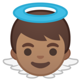 Baby Angel: Medium Skin Tone on Google Android 8.0