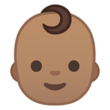 Baby: Medium Skin Tone on Google Android 8.0