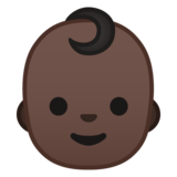 Baby: Dark Skin Tone on Google Android 8.0