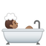 Person Taking Bath: Medium Skin Tone on Google Android 8.0