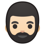 Man: Light Skin Tone, Beard on Google Android 8.0