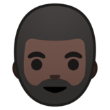 Man: Dark Skin Tone, Beard on Google Android 8.0