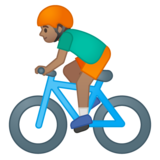 Person Biking: Medium Skin Tone on Google Android 8.0