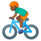 Person Biking: Medium-Dark Skin Tone on Google Android 8.0