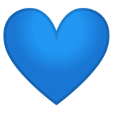 Blue Heart on Google Android 8.0