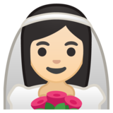 Person With Veil: Light Skin Tone on Google Android 8.0