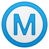 Circled M on Google Android 8.0