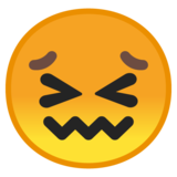Confounded Face on Google Android 8.0