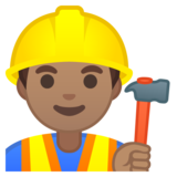 Construction Worker: Medium Skin Tone on Google Android 8.0