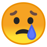 Crying Face on Google Android 8.0