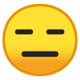 Expressionless Face on Google Android 8.0