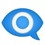 Eye in Speech Bubble on Google Android 8.0