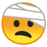 Face with Head-Bandage on Google Android 8.0