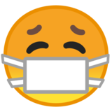 Face with Medical Mask on Google Android 8.0