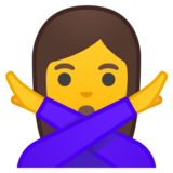 Person Gesturing No on Google Android 8.0