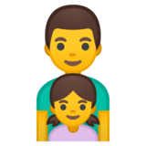 Family: Man, Girl on Google Android 8.0