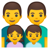 Family: Man, Man, Girl, Boy on Google Android 8.0