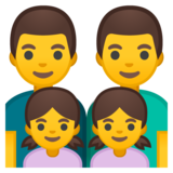 Family: Man, Man, Girl, Girl on Google Android 8.0