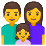 Family: Man, Woman, Girl on Google Android 8.0