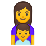 Family: Woman, Boy on Google Android 8.0
