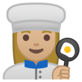 Woman Cook: Medium-Light Skin Tone on Google Android 8.0