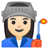 Woman Factory Worker: Light Skin Tone on Google Android 8.0