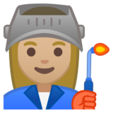 Woman Factory Worker: Medium-Light Skin Tone on Google Android 8.0