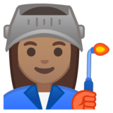 Woman Factory Worker: Medium Skin Tone on Google Android 8.0