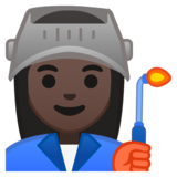 Woman Factory Worker: Dark Skin Tone on Google Android 8.0