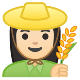 Woman Farmer: Light Skin Tone on Google Android 8.0